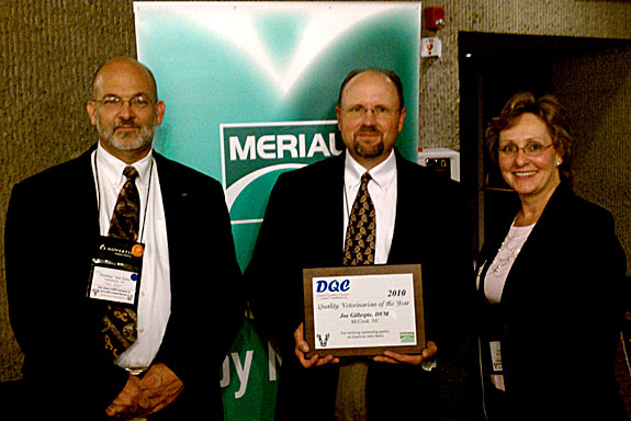 Dr. Joe Gillespie 2010 DQC Veterinarian of the Year