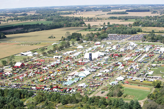 Aerial view of Canada's Outdoor Farm Show
