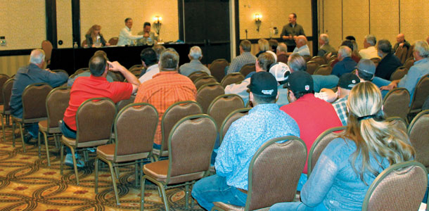 More than 130 people attended a Federal Milk Marketing Order informational meeting in Modesto, California, on January 17