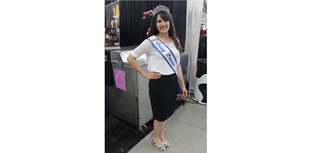 California Dairy Princess Mary Barcellos world ag expo