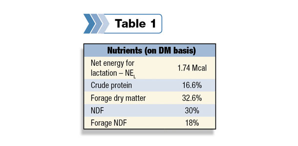 Nutrients in dry matter