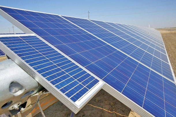 Solar energy is providing 80 percent of the electrical needs.