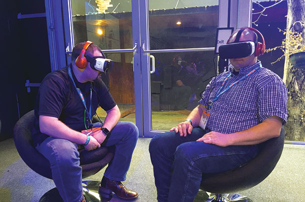 Brian Medeiros and Ray Prock use virtual headseats