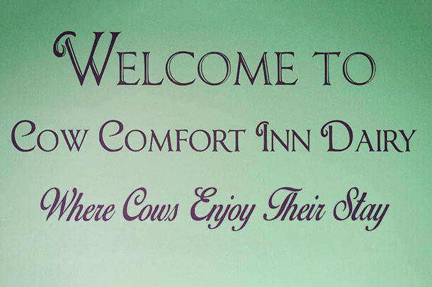 Welcome to Cow comfort Inn Dairy