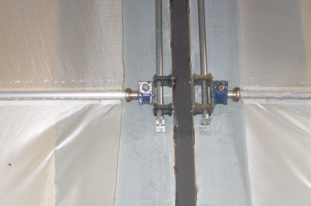 Cross ventilation with a modification: Curtain baffles ...