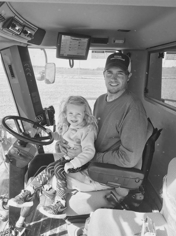 Zach Short and daughter