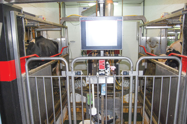 The robotic milkers give a large amount of data