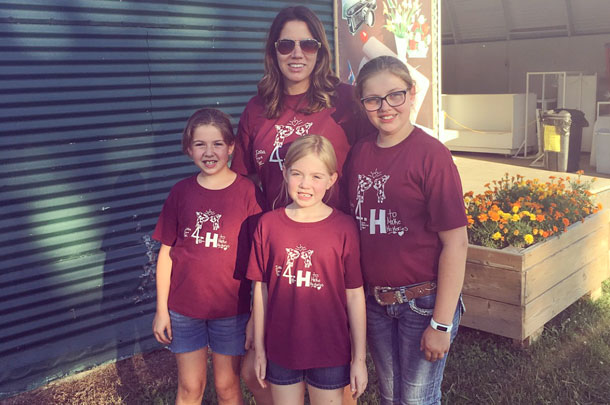 Amanda Leik's three daughters are heavily involved in 4-H.