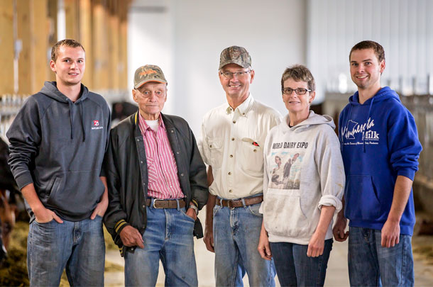 The Hanson family pictured here includes three generations of Minnesota dairy producers.