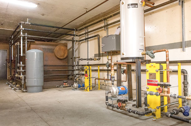 New heat pumps, electric water heaters and a thermal storage tank