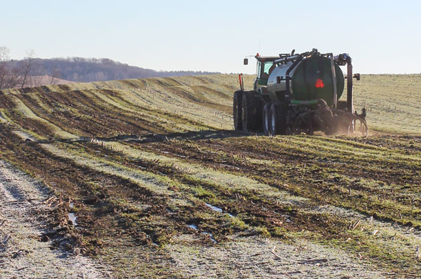 winter manure application