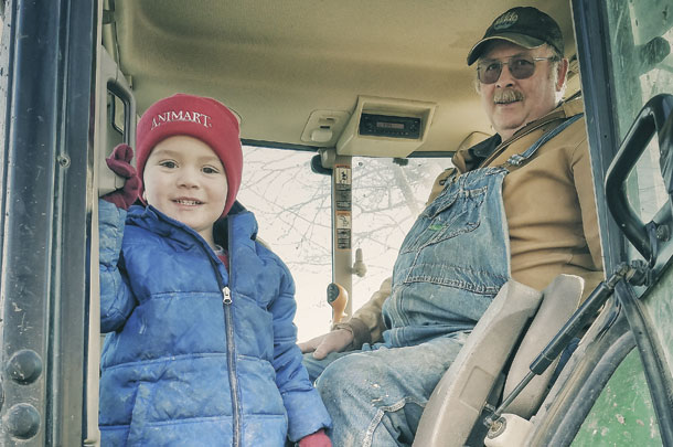 Don Mackinson with his 3 year old grandson Eli Faber