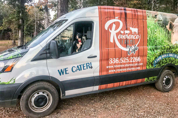 Reverence Farms Cafe catering truck