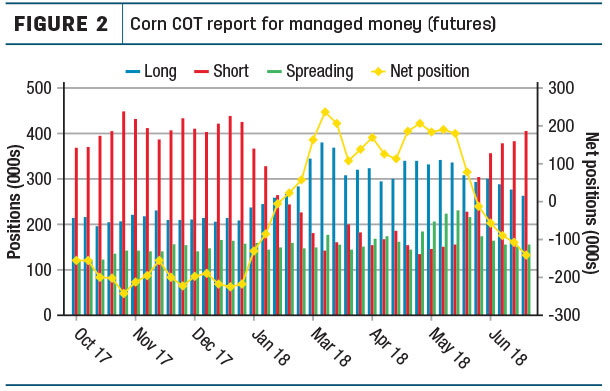 corn COT report for managed money