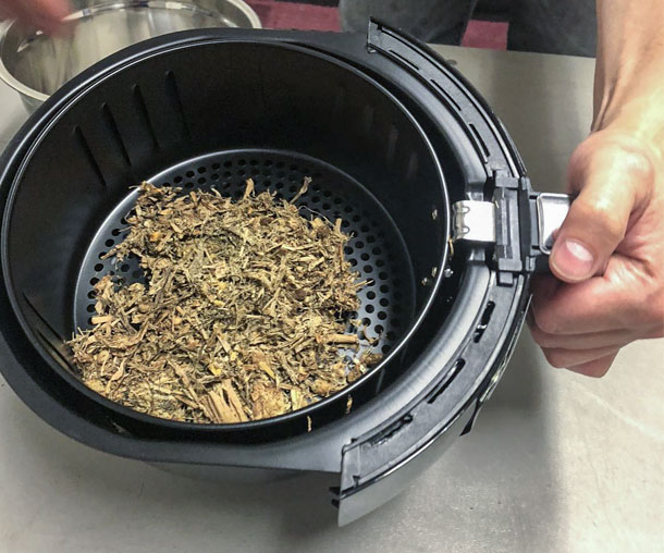 air fryer dry matter method