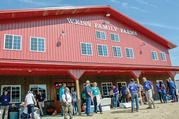 The Weiss family recently built a rotary milking parlor