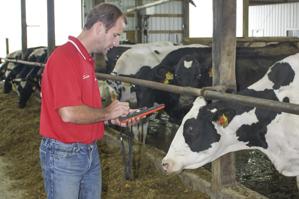 Sander uses cow sensor technology