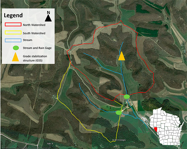 Bragger Family Dairy watershed study map