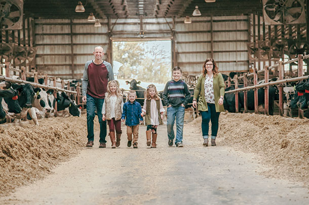 The farming family hehind Duschner Dairy in Farley, Iowa