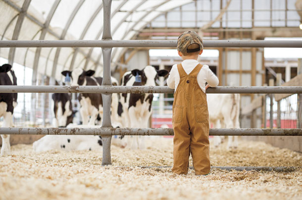 Farm kids at Richlands Dairy Farm