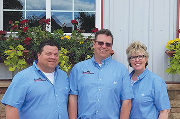 The Siemers Holsteins management team