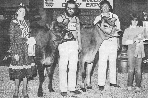 Winning Junior Champion of the 1983 Jersey show with Avonlea Valiant Kitty