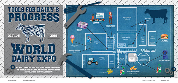 World Dairy Expo map