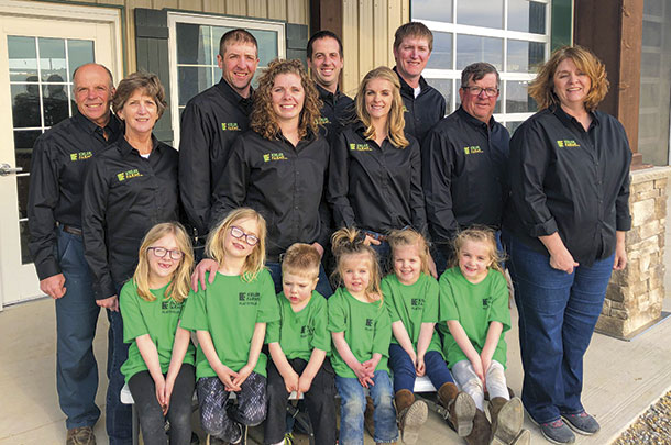 Owners of Kieler Farms and, Eric and Leah's children.