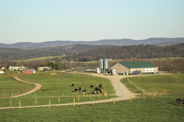 The farm in Manns Choice is primarily cared for by Glenn and Matt Moyer.