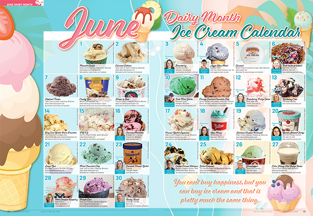 Ice cream advent calendar