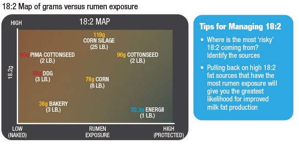 18:2 Map of grams versus rumen exposure