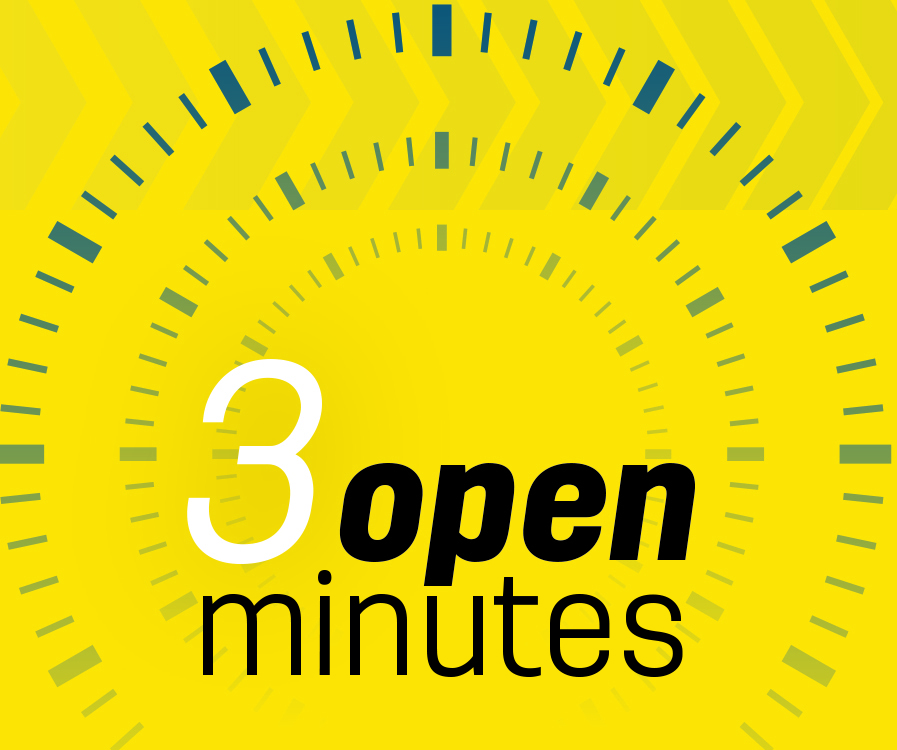 3 open minutes