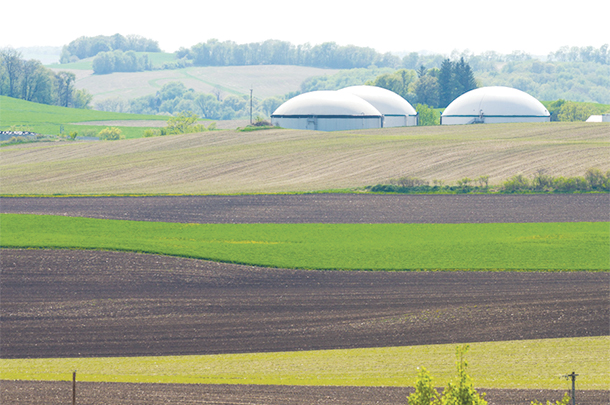 These digesters collect biogas from three dairy farms