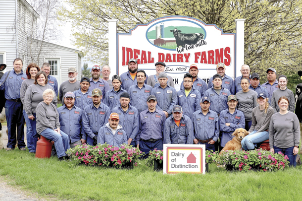 The team at Ideal Dairy Farms in New York state