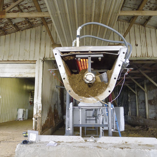 BluTEQ's system cosists of augers that move separted manure solids